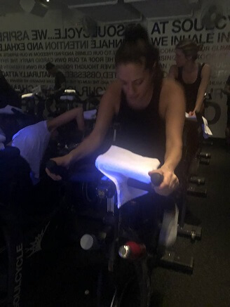 66c3a10185f93 The New York City boutique spin-class scene can be intimidating. Working  out in minimal clothing is enough to make anyone feel insecure, but  beautiful ...