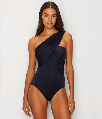 7e5100424b31 Magicsuit Scuba Miley One-Piece  Bring out the Bond Girl from your deepest  depths with a scuba-inspired neoprene stunner. The Miley s modern wrap style