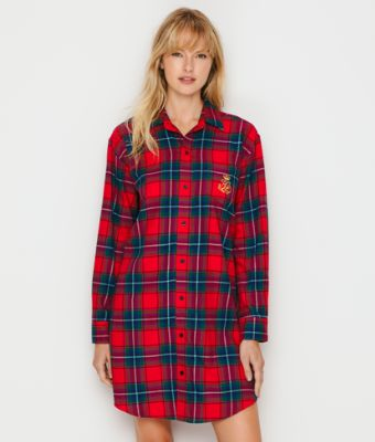 Lauren Ralph Lauren Brushed Twill Sleep Shirt